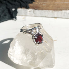 Load image into Gallery viewer, Garnet relic ring- READY TO SHIP