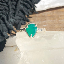 Load image into Gallery viewer, Green onyx tear ring- READY TO SHIP