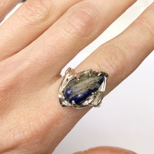 Load image into Gallery viewer, Lapis wave ring- READY TO SHIP