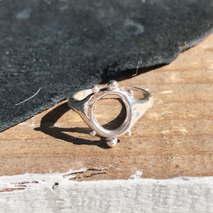 Dotted moon ring-MADE TO ORDER