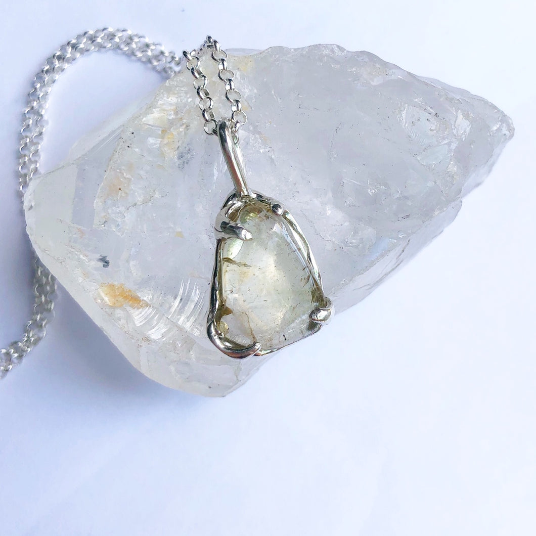 Lemon quartz necklaces- READY TO SHIP