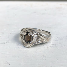 Load image into Gallery viewer, Smokey quartz wave ring- READY TO SHIP
