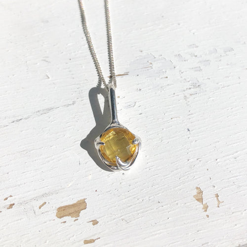 Citrine droplet necklace- READY TO SHIP