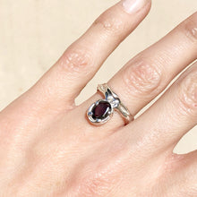 Load image into Gallery viewer, Garnet relic ring 2- READY TO SHIP