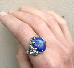 Lapis Mountain ring- READY TO SHIP