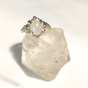 Moonstone galaxy ring- READY TO SHIP