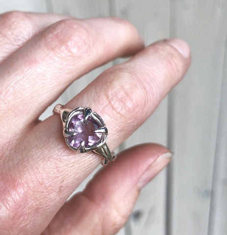 Amethyst love ring