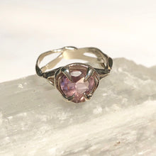 Load image into Gallery viewer, Amethyst love ring- READY TO SHIP