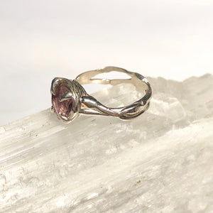 Amethyst love ring- READY TO SHIP