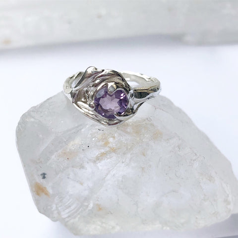Amethyst ocean ring- READY TO SHIP