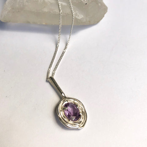 Amethyst road necklace- READY TO SHIP