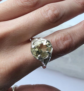 Citrine Queen ring- READY TO SHIP