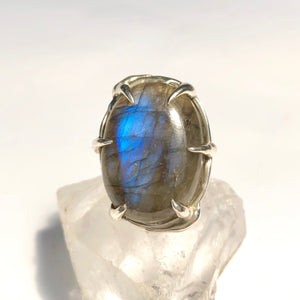 Labradorite mountain ring