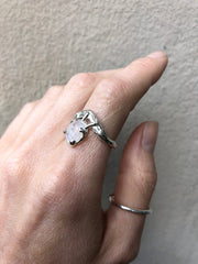 SALE! Moonstone mermaid ring- READY TO SHIP