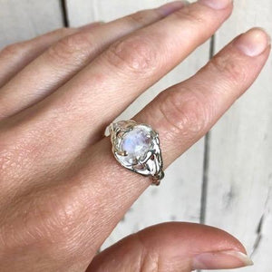 Moonstone nest ring