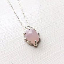 Load image into Gallery viewer, Rose quartz eye necklace- MADE TO ORDER