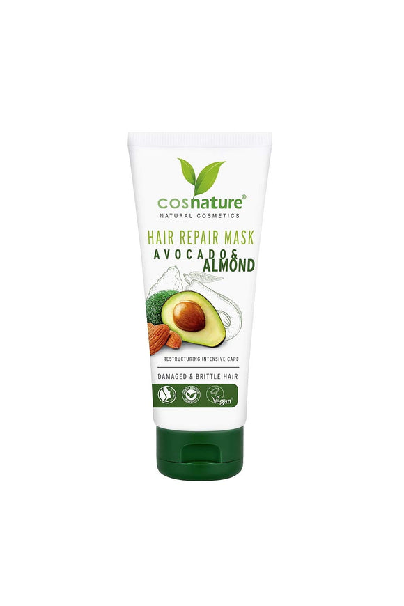 COSNATURE Natural Regenerating Hair Mask With Avocado and Almonds - 100ml VEGAN
