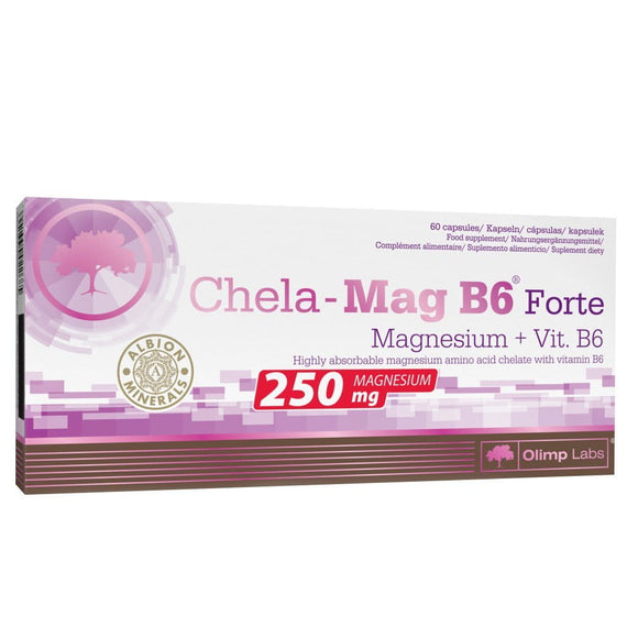Olimp Chela-Mag B6 Forte Mega Vitamin and Mineral Capsules, 1390 Mg, Pack of 60 Capsules