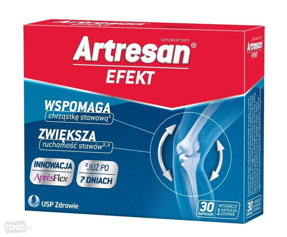 ARTRESAN EFECT - 30 capsules - Promotes the production of collagen in the body (vitamin C) and contributes to the creation of the proper tissue, among others, articular cartilage (manganese).