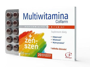 MULTIVITAMIN - 30 tablets - is an optimally configured mix of vitamins and minerals intended particularly for people who want to reinforce body immunity, improve concentration, reduce fatigue and support the nervous system.