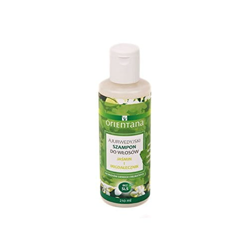 Ayurvedic Hair Shampoo JASMINE & INDIAN ALMOND 210 ML - ORIENTANA