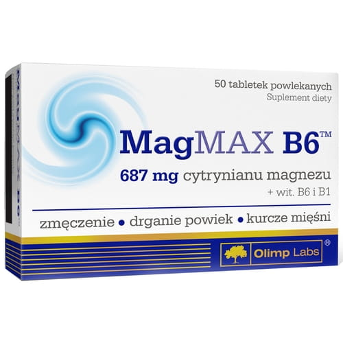 MagMAX B6 - As much as 687 mg of magnesia citrate in one tablet! - 50 tablets