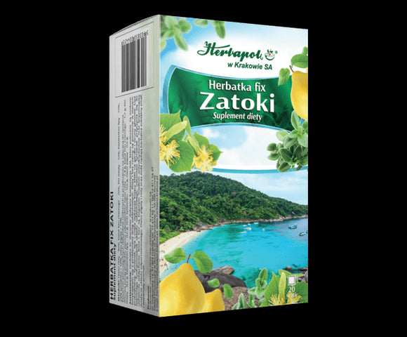 HERBAPOL - FIX TEA FOR SINUSES - 20 sachets - The herbs in the tea help clean the sinuses and restore free breathing. The tea is particularly recommended to all those who suffer from the feeling of