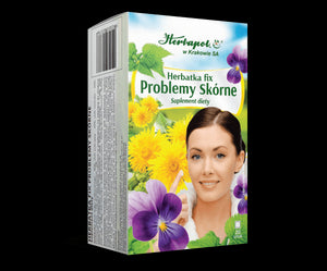 HERBAPOL - SKIN PROBLEMS TEA FIX - 20 sachets - The tea supports the digestive and antioxidation processes in the organism, it has a beneficial effect on any skin changes and problems