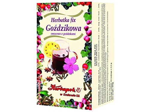HERBAPOL - CLOVE TEA-FIX - 20 sachets - The tea is especially recommended for long autumn-winter evenings - is natural, excellent composition of clove and comminuted fruits, rich in vitamins and microelements