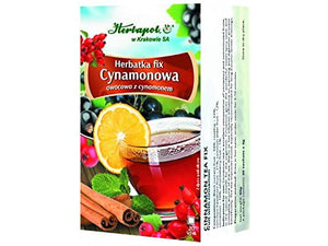 HERBAPOL - CINAMMON TEA - FIX - 20 sachets - The tea improve mood, especially recommended for long autumn-winter evenings - is excellent composition of cinnamon and comminuted fruits, rich in vitamins and microelements