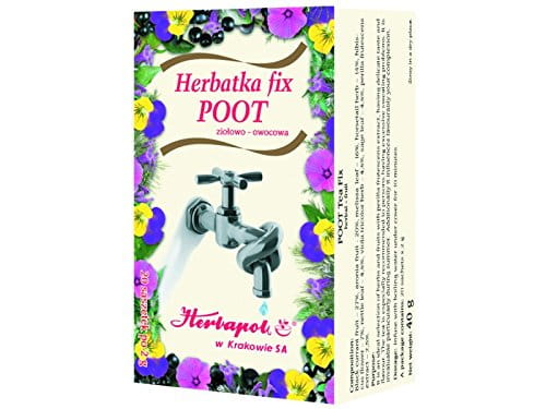 HERBAPOL - POOT Tea Fix - 20 sachets - is especially recommended to persons having excessive sweating problems. It is invaluable particularly during summer. Additionally it influences favourably your complexion