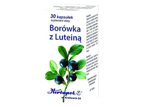 BILBERRY WITH LUTEIN - 30 capsules - have a beneficial effect on eyesight, including twilight vison, they alleviate symptoms of eye fatigue and actively support antioxidation processes in the body