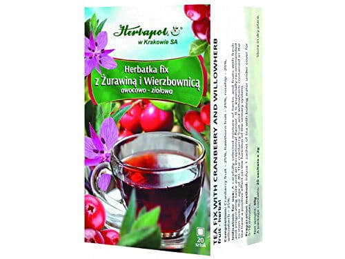 HERBAPOL - TEA FIX WITH CRANBERRY AND WILLOWHERB - 20 sachets