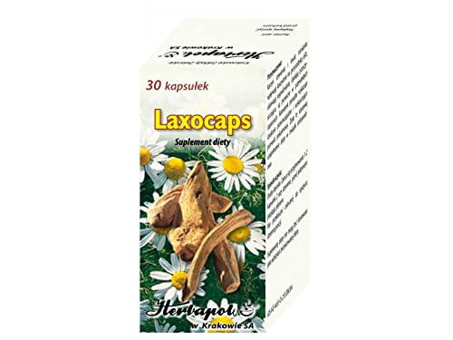 LAXOCAPS - 30 capsules - The preparation is used as a dietary supplement of anthranoid compounds beneficially influencing movements of guts