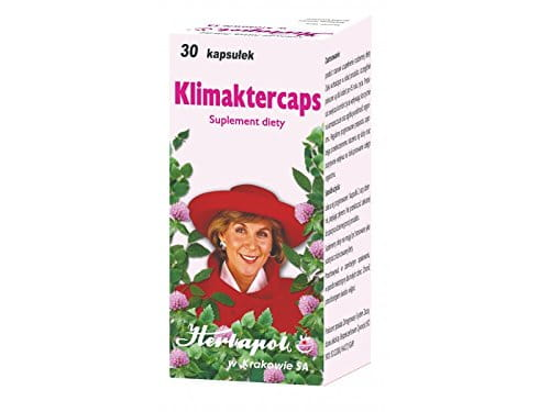 KLIMAKTERCAPS -30 capsules - The product supplements everyday diet. The herbs which make up the product are especially recommended for women over 45 years.