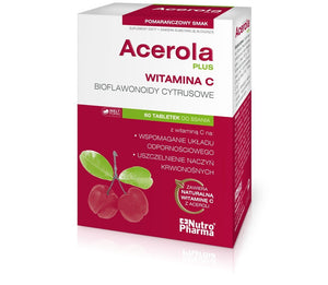 ACEROLA PLUS - 60 lozenges is a complex supplement, which is a rich source of natural bioflavonoids (rutin, hesperidin) and vitamin C helps in: - the proper functioning of the ...