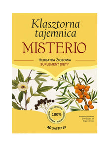 Herbal Tea - Monastic Mystery - MISTERIO - 40 sachets - Franciscan Herbs - Franciscan Monks - Traditional Old Herbal Recipe