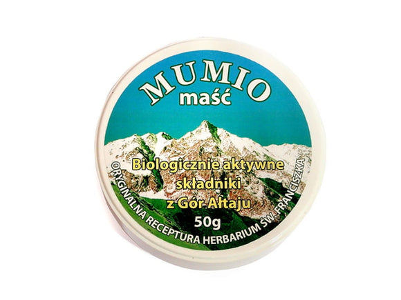 Mumio Ointment - Active Ingredients from The Altai Mountains - 50 Grams - Franciscan Herbs - Franciscan Monks - Traditional Old Herbal Recipe