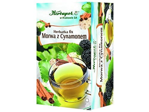 HERBAPOL - MULBERRY AND CINNAMON Tea Fix - 20 sachets - helps to keep the proper sugar level in blood and supports body mass reduction.