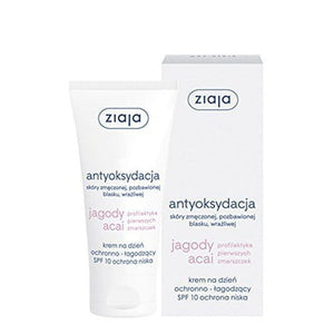 ZIAJA ACAI BERRY Protective Soothing Face Cream SPF 10 Day And Night 50ml