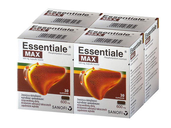 Essentiale MAX Original 120 Caps - for Liver detox cleanses - 4 x 30 capsules