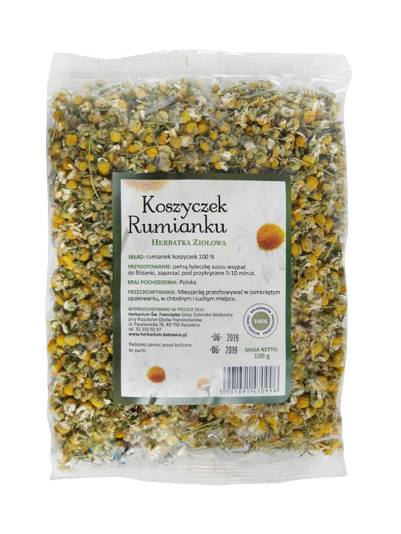 Herbal Tea Chamomile - 100 gr - Franciscan Herbs - Franciscan Monks - Traditional Old Herbal Recipe