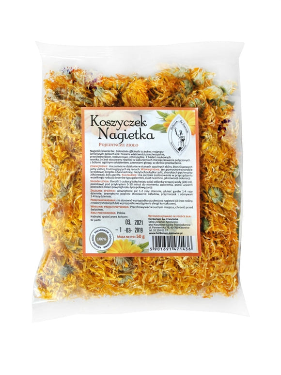 Marigold - Calendula Officinalis - 50 g - Franciscan Herbs - Franciscan Monks - Traditional Old Herbal Recipe - 100% Natural