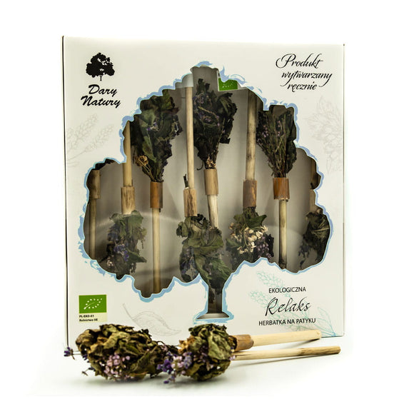 DARY NATURY - Relaxation Tea - Tea on a stick - 8 pieces - ORGANIC