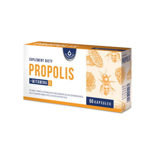 Propolis - 60 capsules - Helps In The Proper Functioning Of The Immune System