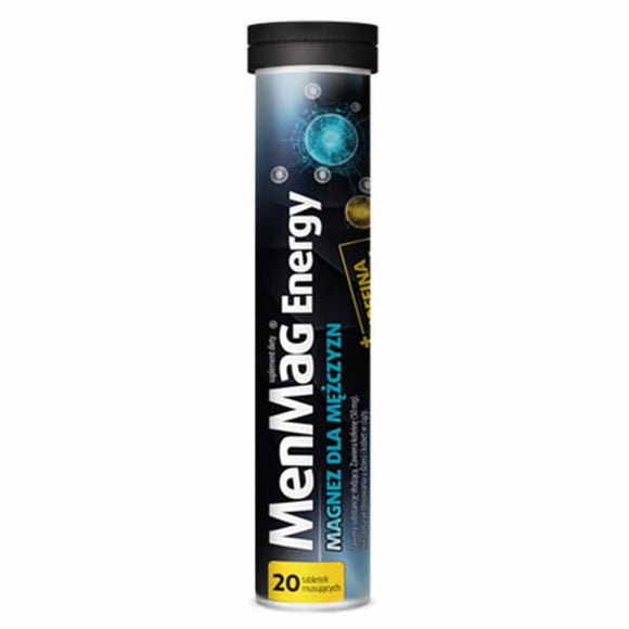 MenMag Energy Magnesium for Men Dietary Supplement 20 Dissolving Tablets