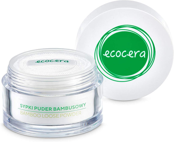 ECOCERA Bamboo Loose Powder Perfect For Oily And Combination Skin Hypoallergenic Delicate Transparent Light