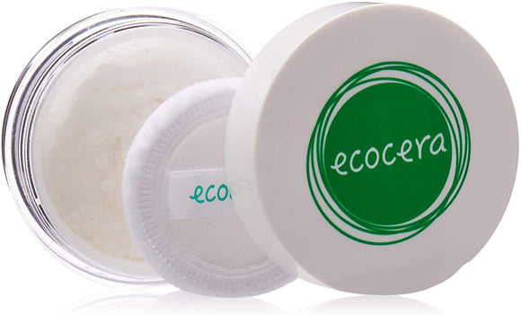 ECOCERA Rice Loose Powder Perfect For Oily And Combination Skin Hypoallergenic Delicate Transparent Light - Race Fixer - 15g