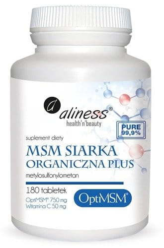 ALINESS MSM ORGANIC SULFUR PLUS - 180 tablets