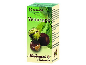 VENOCAPS - 30 capsules - The preparation is recommended as a diet supplement especially for persons with varicose veins and haemorhoids
